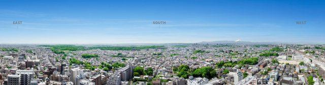 プラウドタワー武蔵小金井クロスの眺望イメージ
