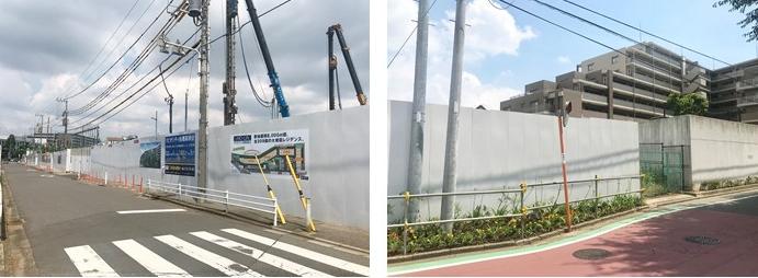 リビオシティ船橋高根台の現地